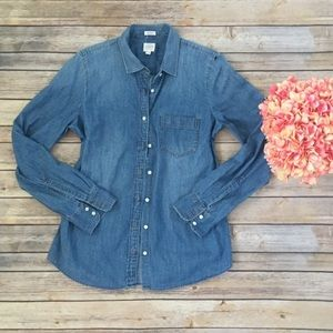 J Crew Perfect Fit Chambray Shirt